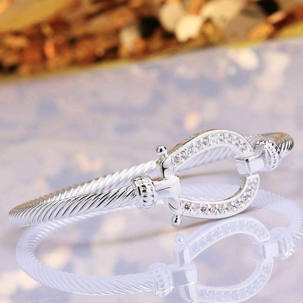 Silver Plated Horseshoe Bracelet - Animals Realm