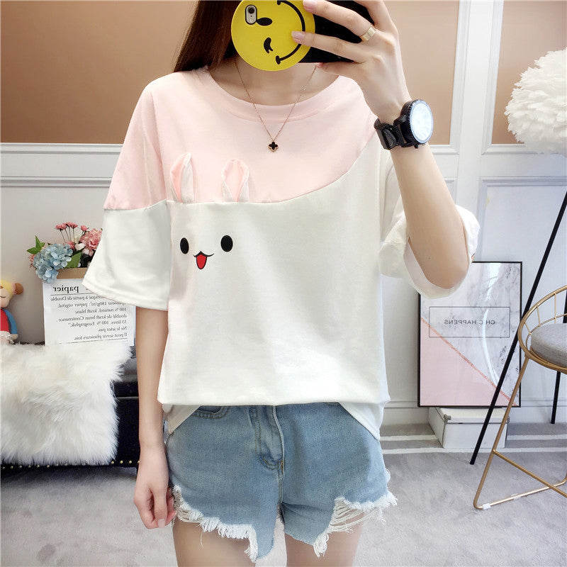 Adorable Bunny Face T-Shirts