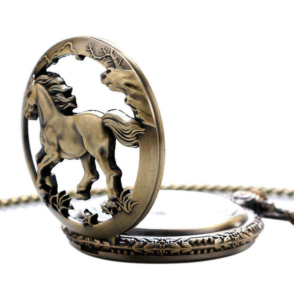 Vintage Horse Pendant Pocket Watch - Animals Realm
