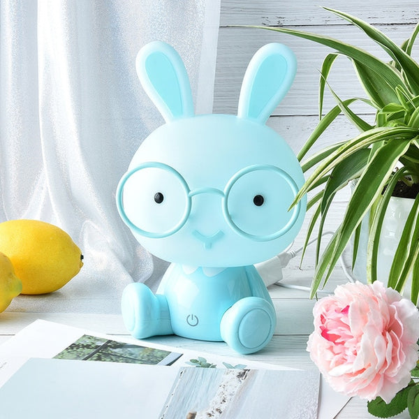 Adorable Bunny with Glasses Night Lamp