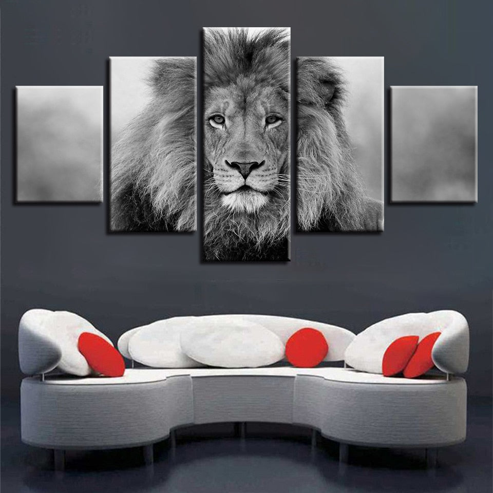 Unique Modular Lion Canvas