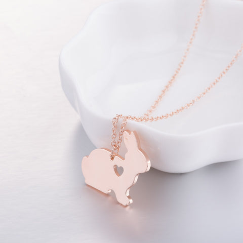 Adorable Bunny Heart Necklaces