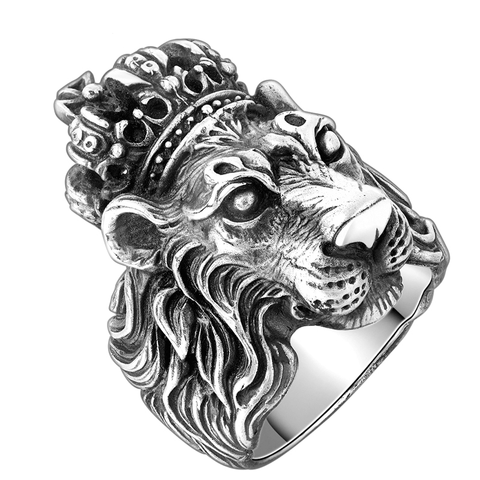 Luxurious Handmade Carved Pure S925 Silver Lion Ring