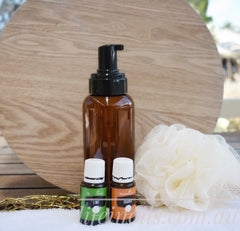 make your own natural nontoxic body wash with essential oils | young living and doterra on afterpay australia