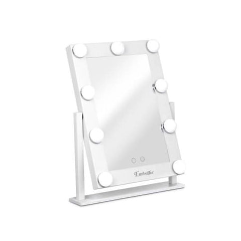 Embellir Led Standing Makeup Mirror - White Accessories
