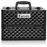 Make Up | Portable Cosmetic Beauty Make Up Carry Case Box Diamond Black Accessories