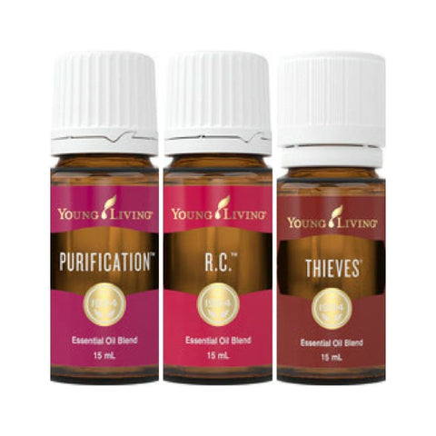 Young Living Essential Oils | Winter Wellness Pack | Thieves Purification & R.c 15Ml Young Living Oils - Blends