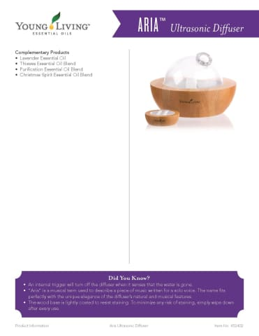 Young Living Essential Oil Nelson Bay | Aria Diffuser Premium Starter Kit
