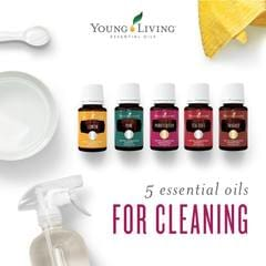 detox your home cleaning with essential oils | doterra and young living on afterpay