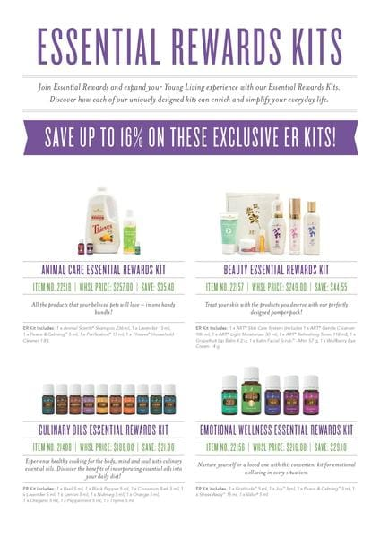 Young Living Essential Rewards Kits | Essential Oils Nelson Bay