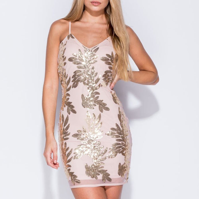 cf7343fe5b1f CHLOE Sequin Bodycon Cami Dress. CHLOE Sequin Bodycon Cami Dress. Regular  price £35.00 £10.00 Sale · AMELIA Metallic Lace Front Playsuit