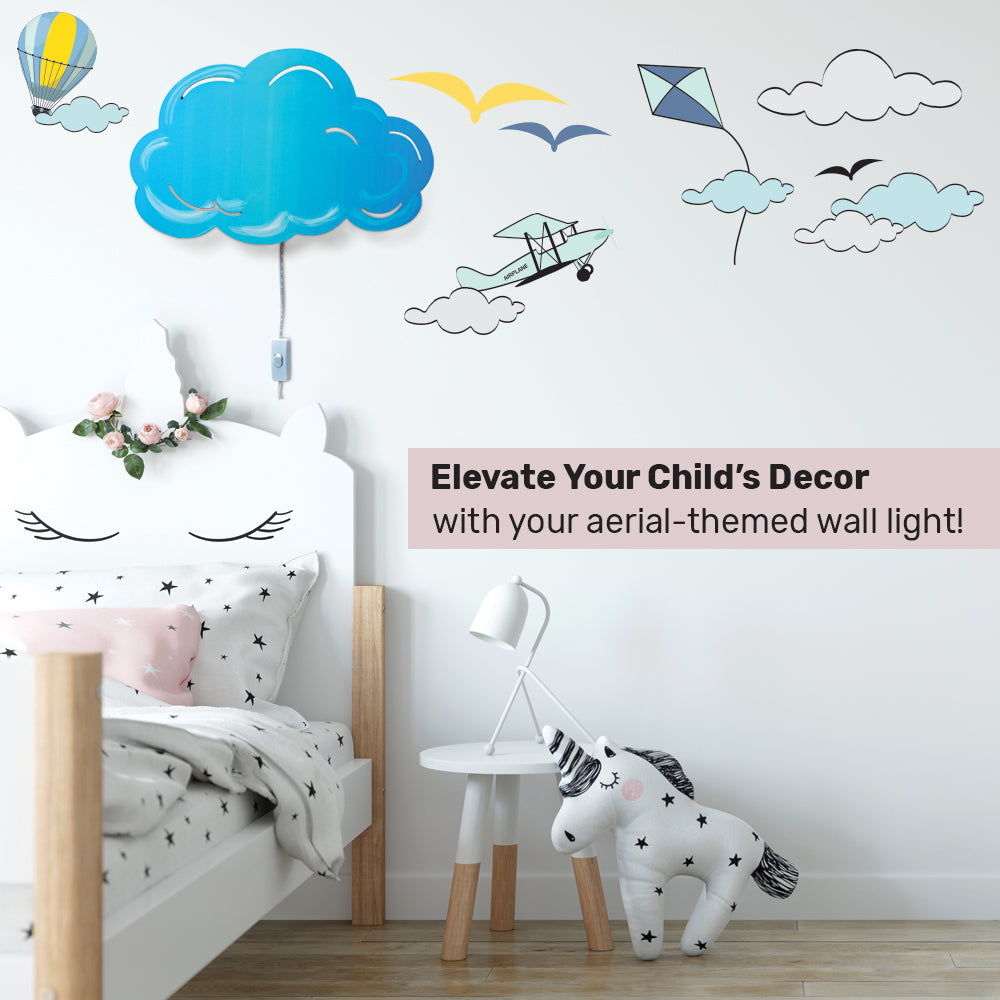 Cloud LED Wall Lamp & Decal Set for Children