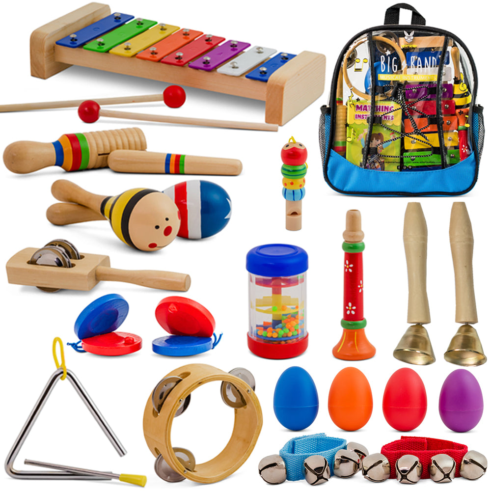 Big Band - 25 Pcs. Musical Instruments Set with Blue Backpack