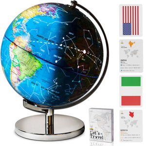 Illuminated Educational Desktop Earth Globe for Kids
