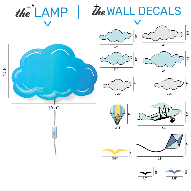 Wall Lamp & Decals Could Theme Set
