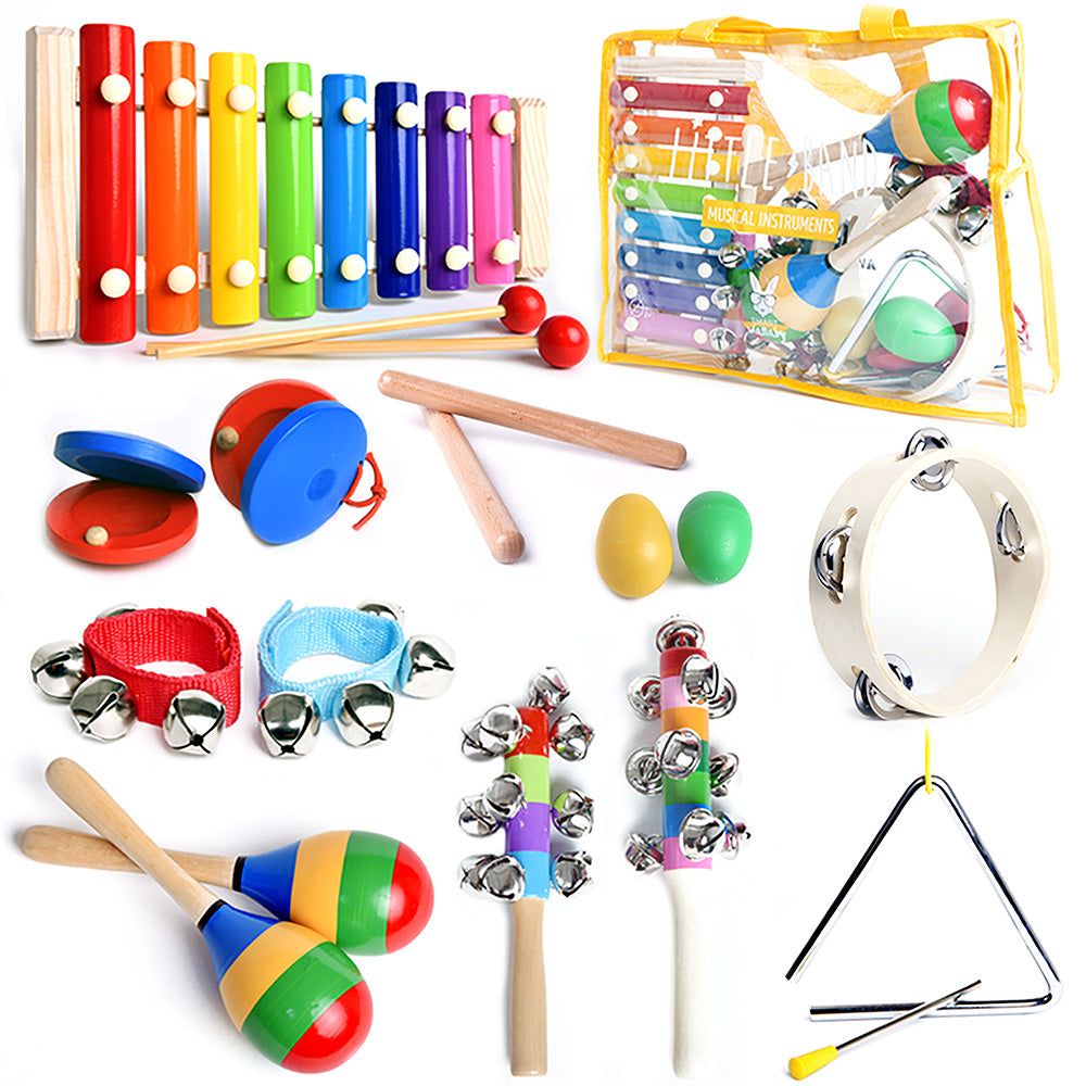 Yellow Kit: Musical Set -15 Pcs. Percussion Instruments