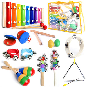 Little Band - 15 Pcs. Musical Instruments Set with Carrying Bag