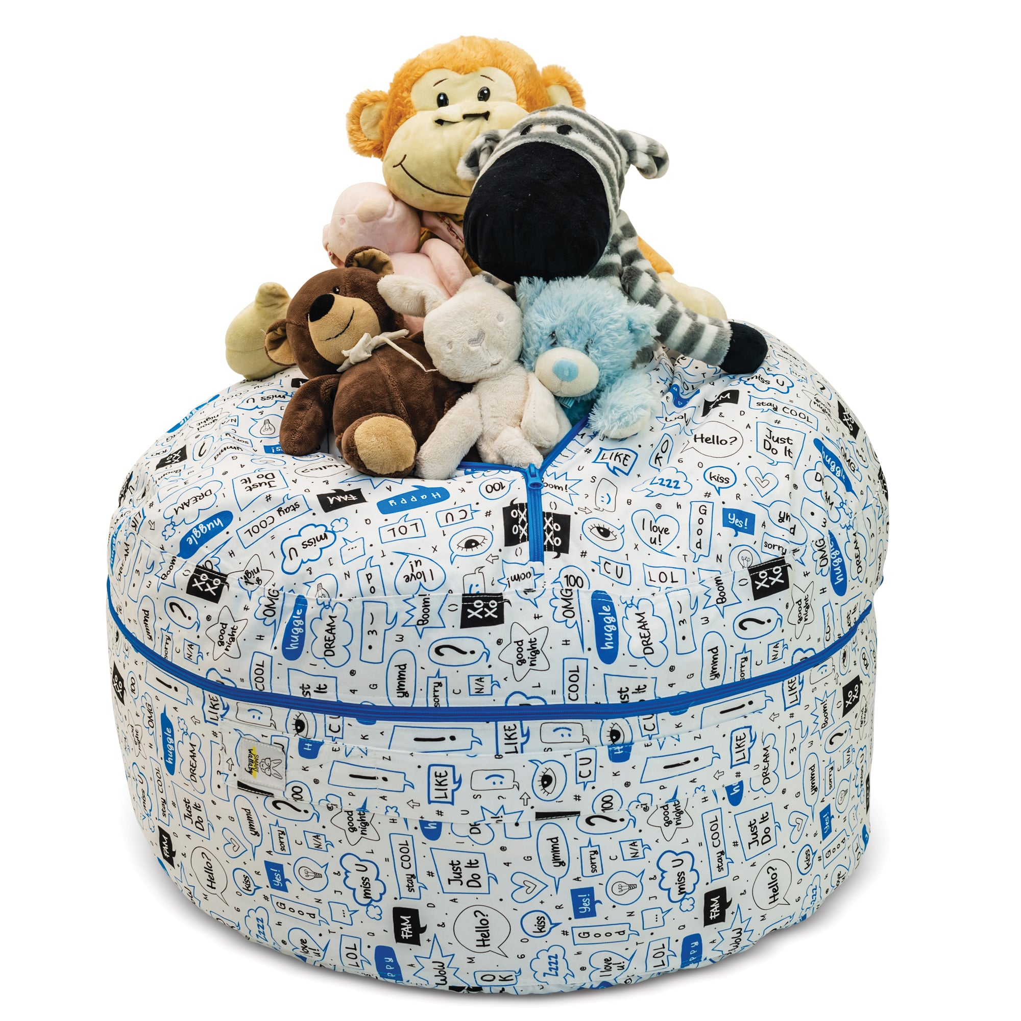"""Talk to Me"" Stuffed Animal Storage Bean Bag Chair Cover"