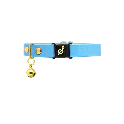 Baby blue kitten collars with quick release buckle - Supakit