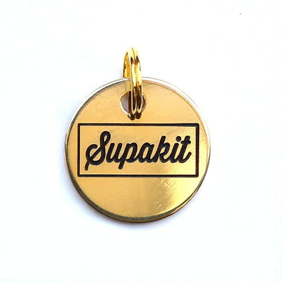 Engraved Cat Tags - Polished Brass