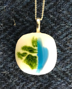 Hand Mand Glass Fused Pendant - Barra Beach Glass