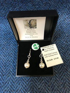 Shell Pearl & Sterling Silver Earrings