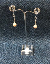 Shell Pearl with Hilltribe & Sterling Silver Earrings