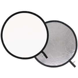 "Lastolite Collapsible Reflector - 38"" Circular - Silver/White - The Film Equipment Store"