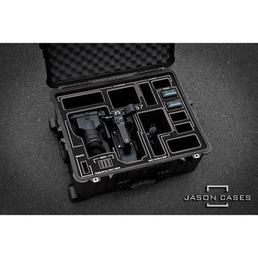 Jason Cases Hard Rolling Case for Sony FS7 Camera (Black Overlay) - The Film Equipment Store