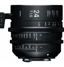 Sigma 24mm T1.5 FF High Speed Prime Cine Lens  - Feet Scale - The Film Equipment Store