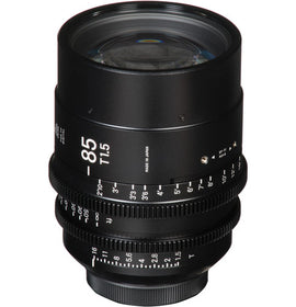 Sigma 85mm T1.5 FF High Speed Prime Cine Lens   - Feet Scale - The Film Equipment Store