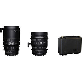 Sigma PL Mount T2 High Speed Zoom Cine Lens Bundle (Includes 18-35mm, 50-100mm and Case)  - Feet Scale - The Film Equipment Store