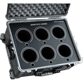 Jason Cases Protective Case for Set of 6 Zeiss CP.2 Lenses (Black Overlay) - The Film Equipment Store