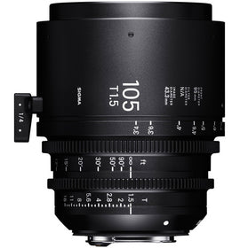 Sigma 105mm T1.5 FF High Speed Prime Cine Lens - Feet Scale - The Film Equipment Store
