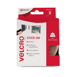 VELCRO Brand - Stick On Hook and Loop Fasteners 20mm x 5m Tape | Black - The Film Equipment Store