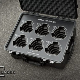 Jason Cases Arri Ultra Prime 6-lens case (Black Overlay) - The Film Equipment Store