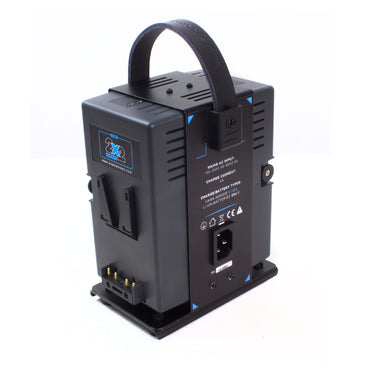Hawk-Woods VL-2X2C V-Lock Simultaneous Dual Compact 2-Channel Lithium-Ion Ultra Fast Charger - The Film Equipment Store