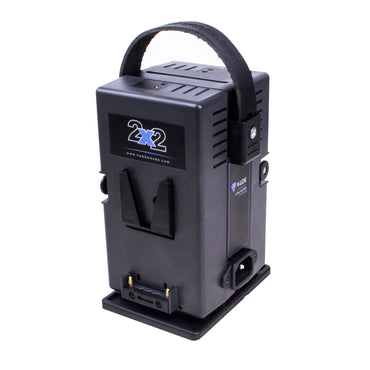 Hawk-Woods VL-2X2P (VL2X2P) V-Lock Simultaneous Dual Compact 2-Channel Lithium-Ion Fast Charger and 60W PSU - The Film Equipment Store