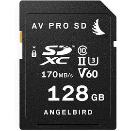 Angelbird 128GB AV Pro UHS-II SDXC Memory Card (V60) - The Film Equipment Store