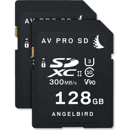 Angelbird 128GB AV Pro UHS-II SDXC Memory Card (2-Pack) (V90) - The Film Equipment Store