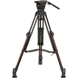 Cartoni Focus 12 Fluid Head with 2-Stage Aluminum Smart-Stop SDS Tripod System - The Film Equipment Store