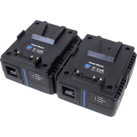 Hawk-Woods Dual Channel Mini V-Lok 3A Fast Charger - The Film Equipment Store