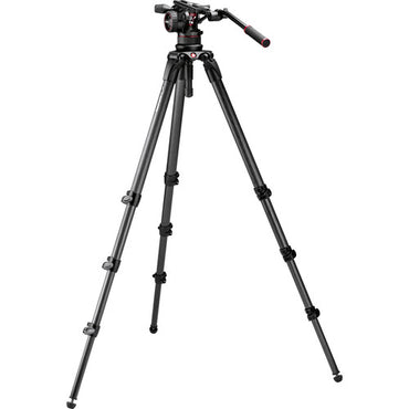 Manfrotto Nitrotech N12 & 536 Carbon Fiber Single Legs Tripod System - The Film Equipment Store