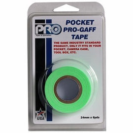 "Pro-Gaff Fluorescent Pocket Cloth Tape, 24mm / 1"" x 5.4m / 6 Yards Roll - The Film Equipment Store"