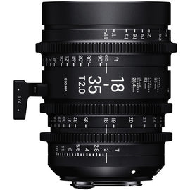 Sigma 18-35mm T2 High Speed Zoom Cine Lens  - Feet Scale - The Film Equipment Store