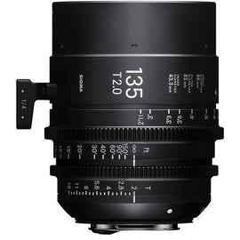 Sigma 135mm T2 FF High Speed Prime Cine Lens - Feet Scale - The Film Equipment Store