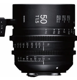 Sigma 50mm T1.5 FF High Speed Prime Cine Lens  - Feet Scale - The Film Equipment Store