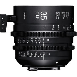 Sigma 35mm T1.5 FF High Speed Prime Cine Lens   - Feet Scale - The Film Equipment Store