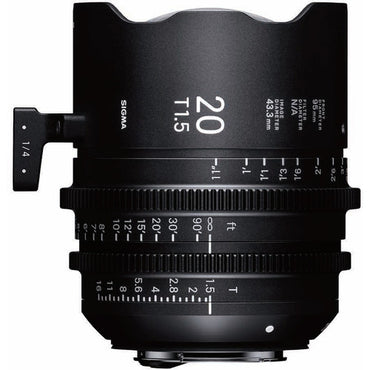 Sigma 20mm T1.5 FF High Speed Prime Cine Lens  - Feet Scale - The Film Equipment Store
