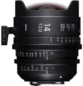 Sigma 14mm T2 FF High Speed Prime Cine Lens - Feet Scale - The Film Equipment Store